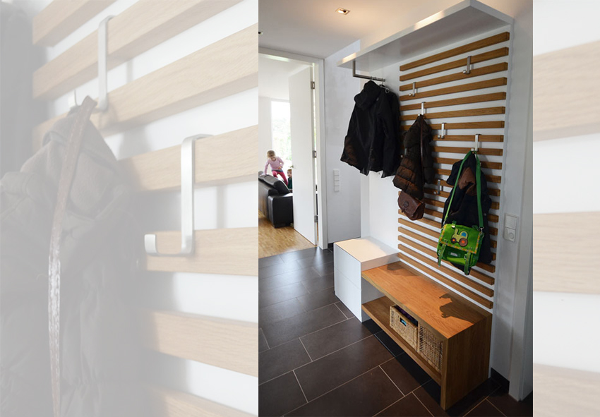 garderobe f r viele jacken haloring. Black Bedroom Furniture Sets. Home Design Ideas